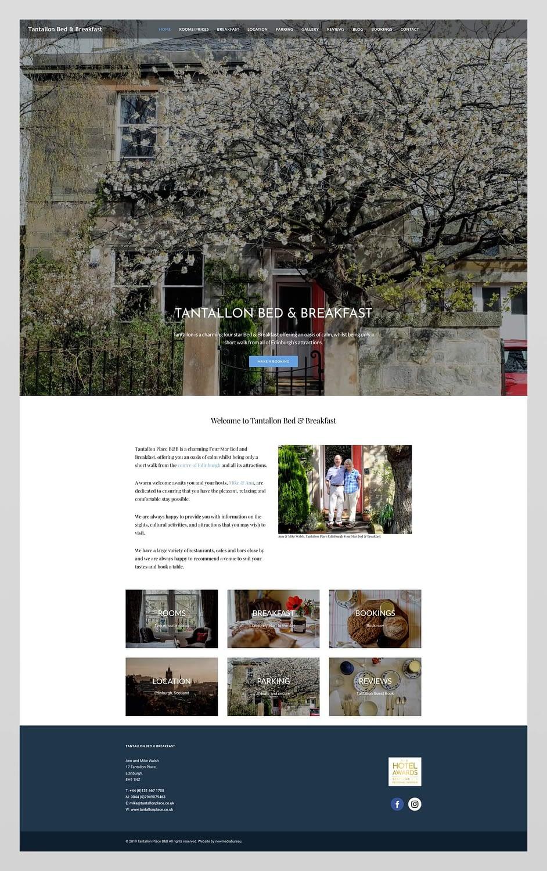 Website design for Tantallon Place | Edinburgh