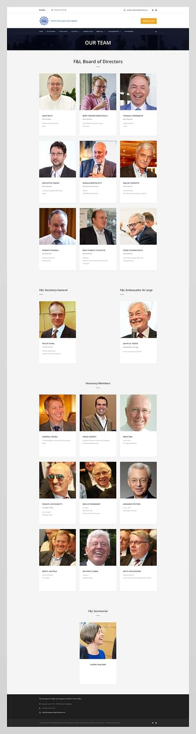 Website design for European Freight Leaders Forum | Edinburgh