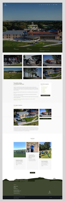 Website design for Craigielaw Golf Club, East Lothian